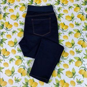 St. John's Bay Elastic Waist Dark Blue Skinny Leg